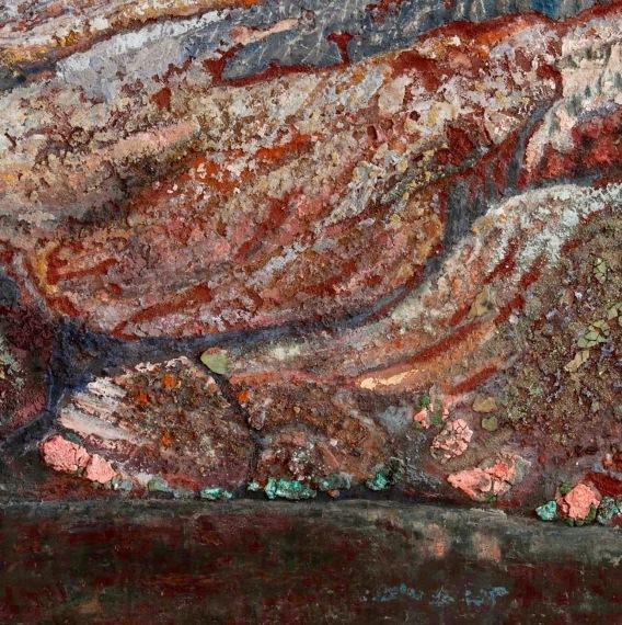 """Detail of """"Agua con peso"""""""
